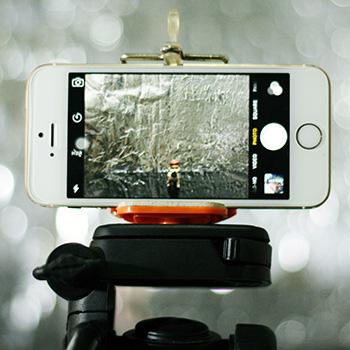 Smartphone on a tripod