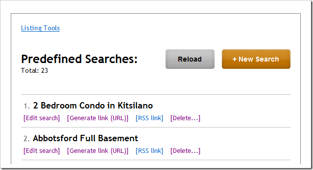 predefined-search-list