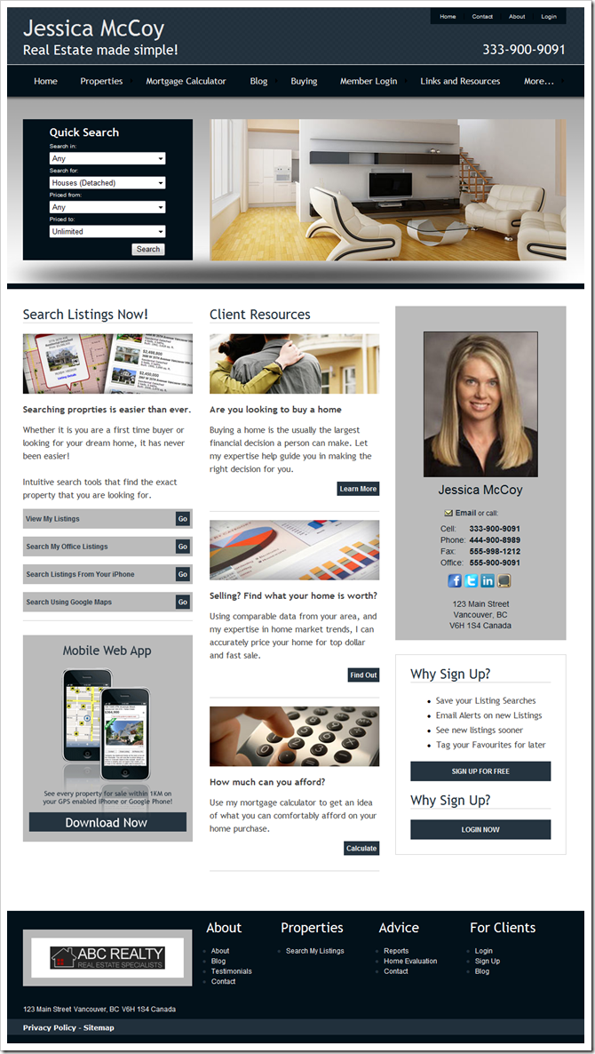 Theme 702 : myRealPage theme for REALTOR websites