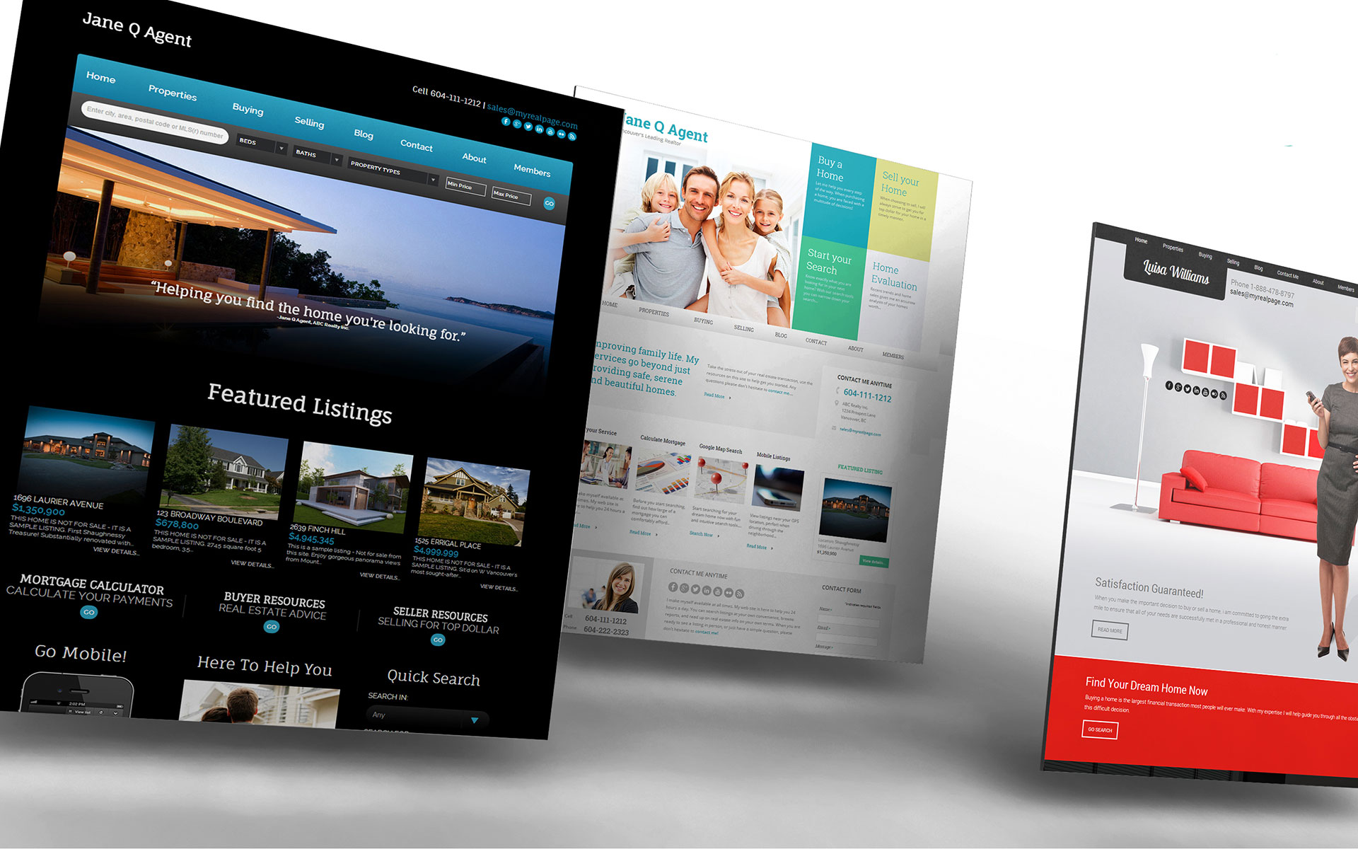 Real Estate Website Templates For Realtors MyRealPage - Web templates for sale