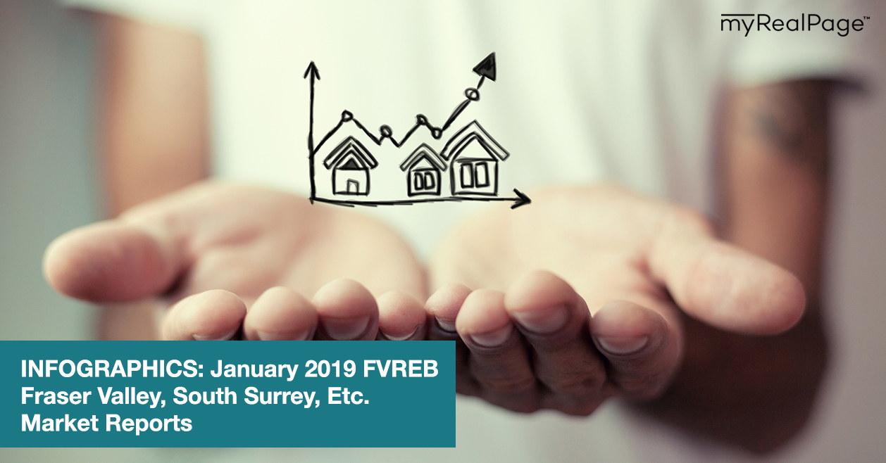 INFOGRAPHICS: January 2019 FVREB Fraser Valley, South Surrey, Etc. Market Reports