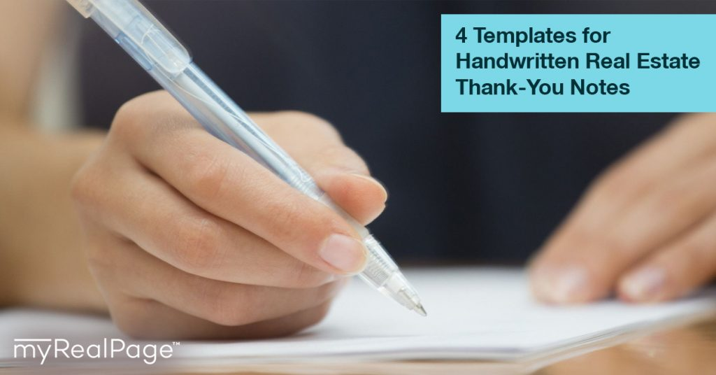 4 Templates For Handwritten Real Estate Thank You Notes