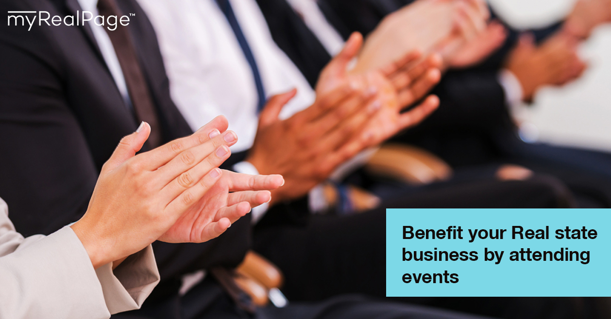 Benefit your real estate business by attending events