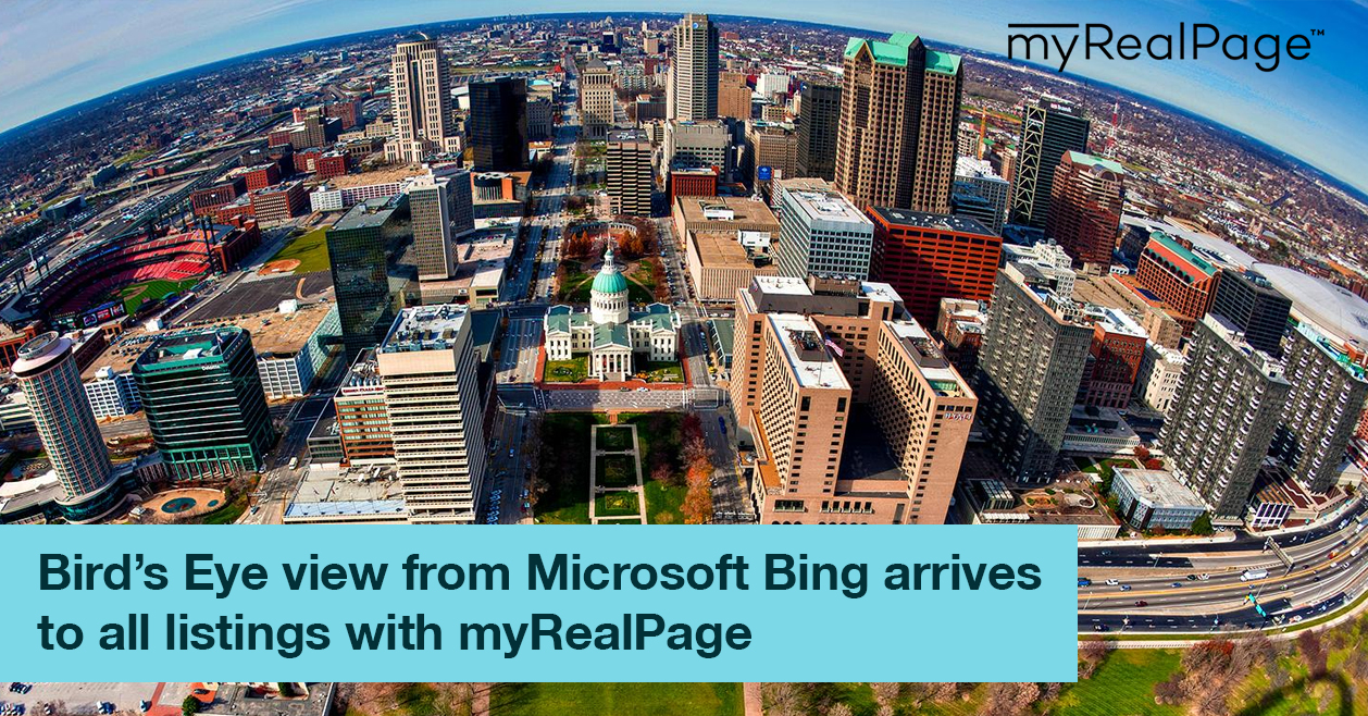 Bird's Eye View From Microsoft Bing Arrives To All Listings With MyRealPage