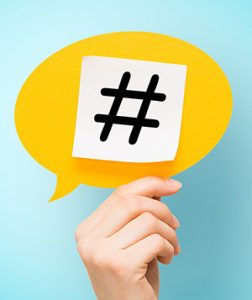 Avoid using too many hashtags