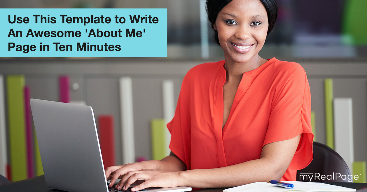 Use This Template To Write An Awesome 'About Me' Page In 10 Minutes