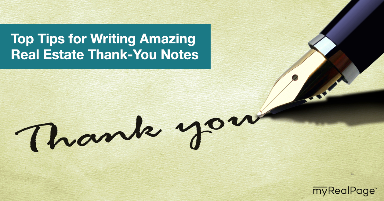 Top Tips for Writing Amazing Real Estate Thank-You Notes