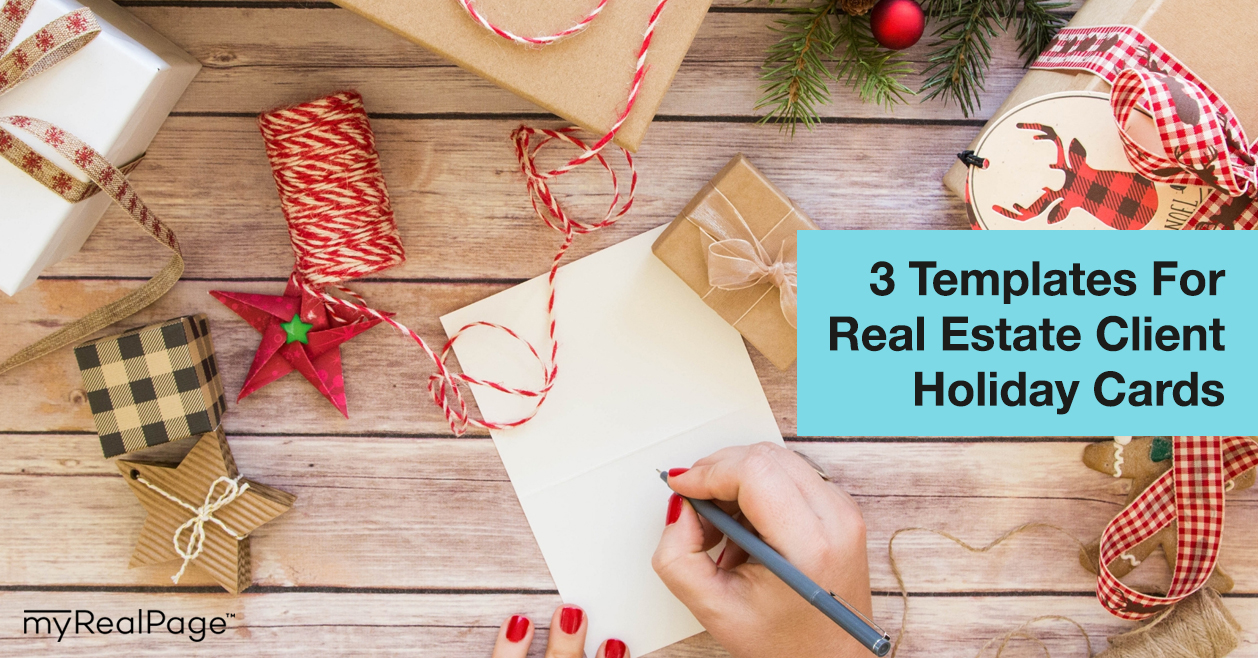 3 Templates For Real Estate Client Holiday Cards