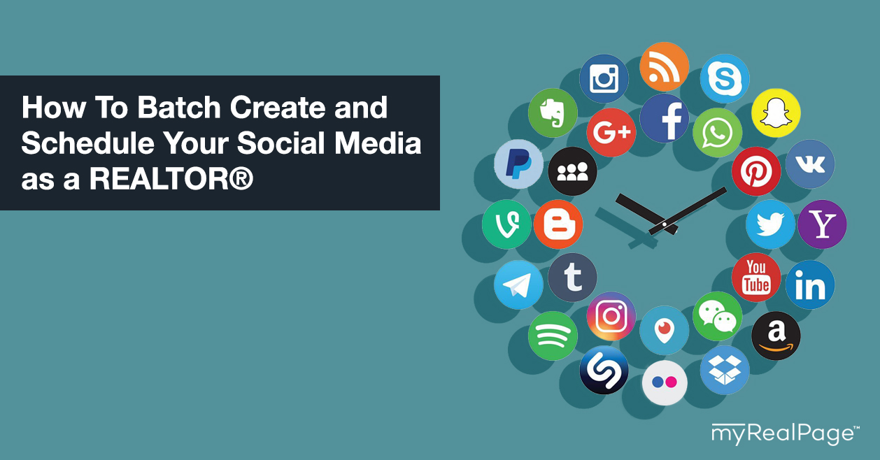 How To Batch Create and Schedule Your Social Media as a REALTOR®