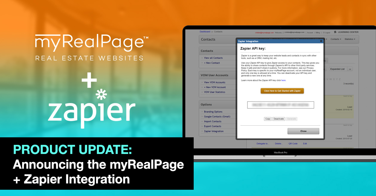 PRODUCT UPDATE: Announcing the myRealPage + Zapier Integration