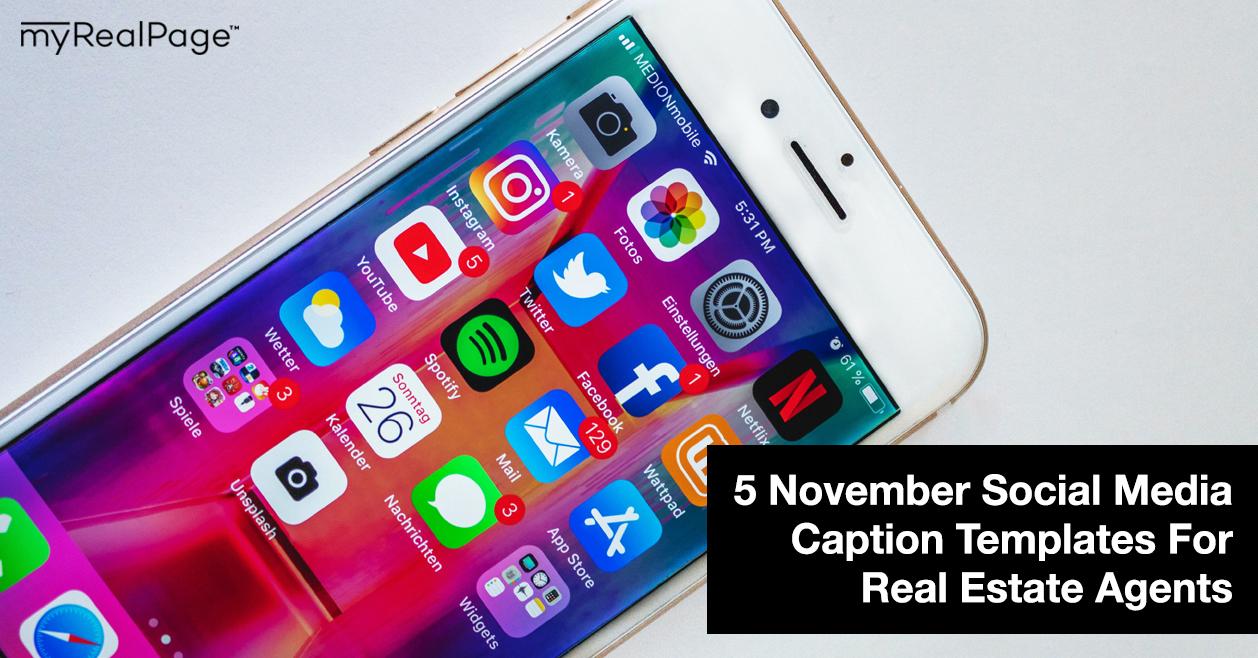 5 November Social Media Caption Templates For Real Estate Agents