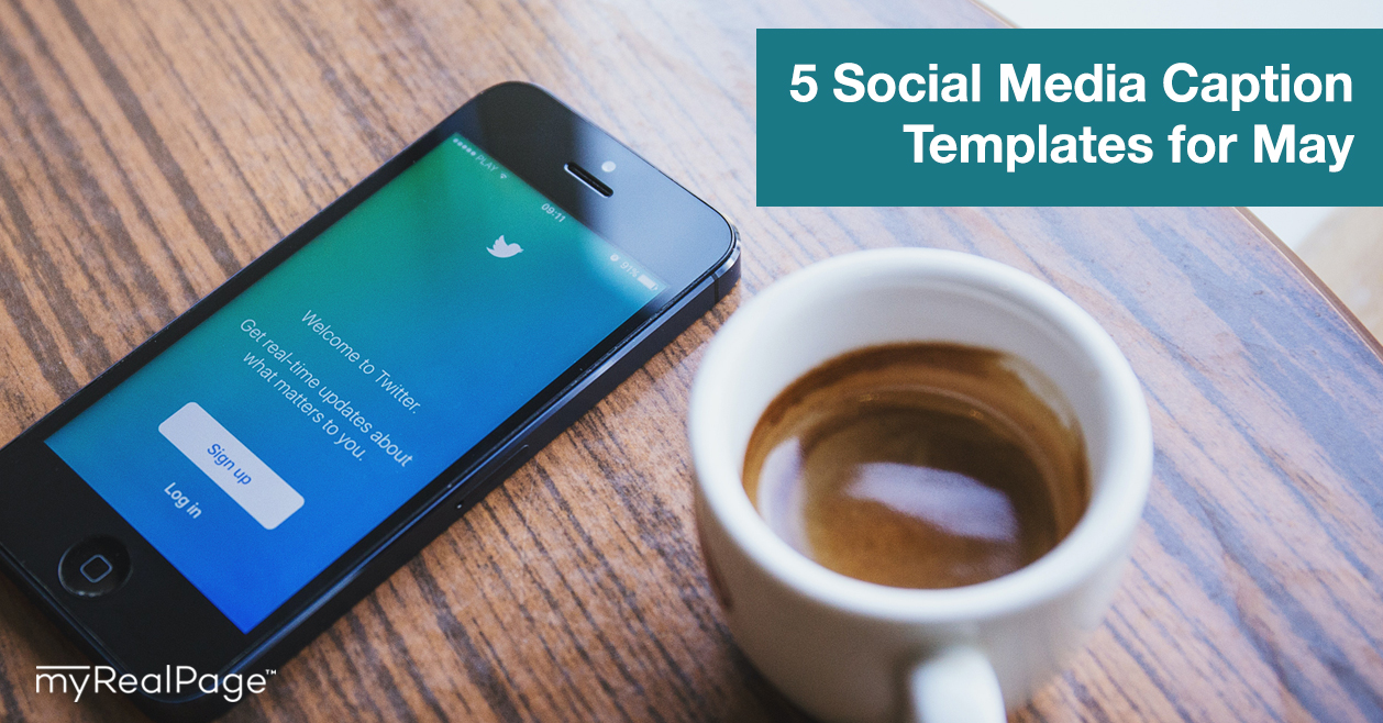 5 Social Media Caption Templates for May