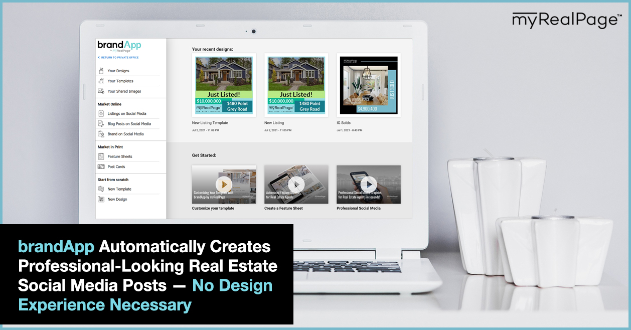 brandApp Automatically Creates Professional-Looking Real Estate Social Media Posts — No Design Experience Necessary