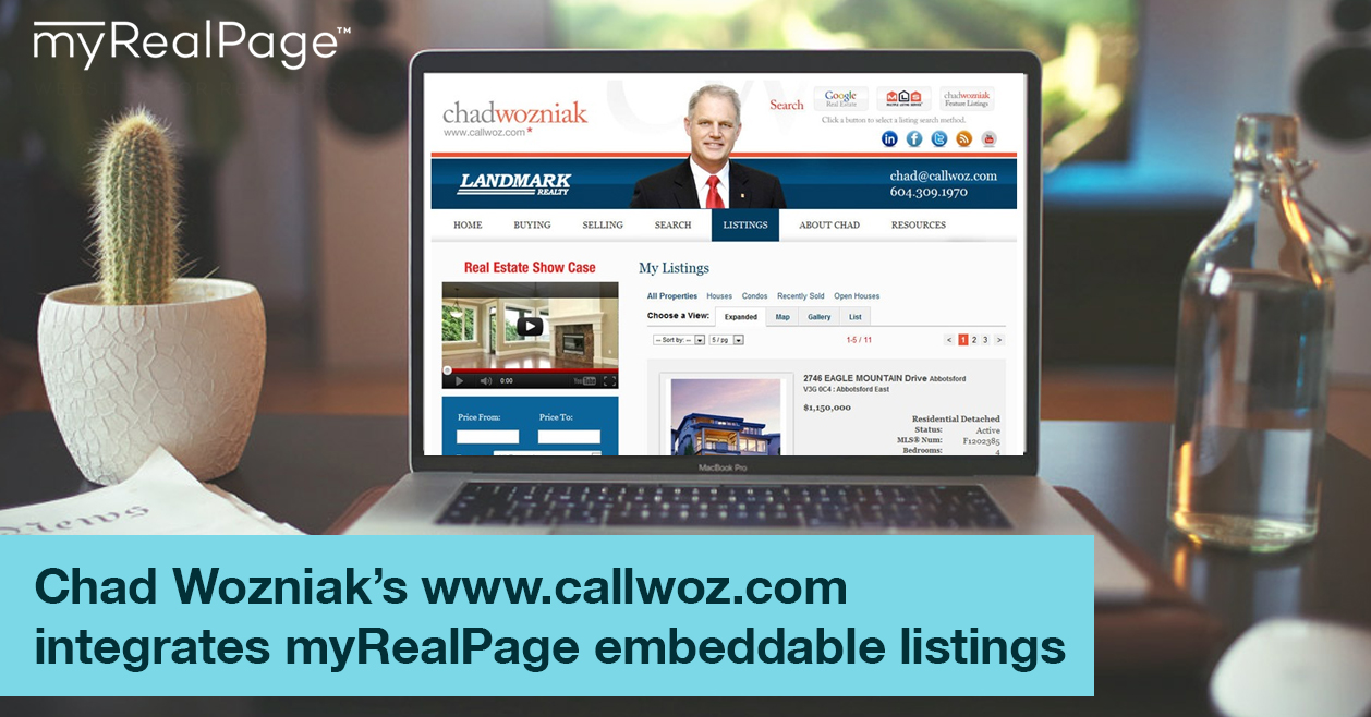 Chad Wozniak's www.callwoz.com integrates myRealPage embeddable listings