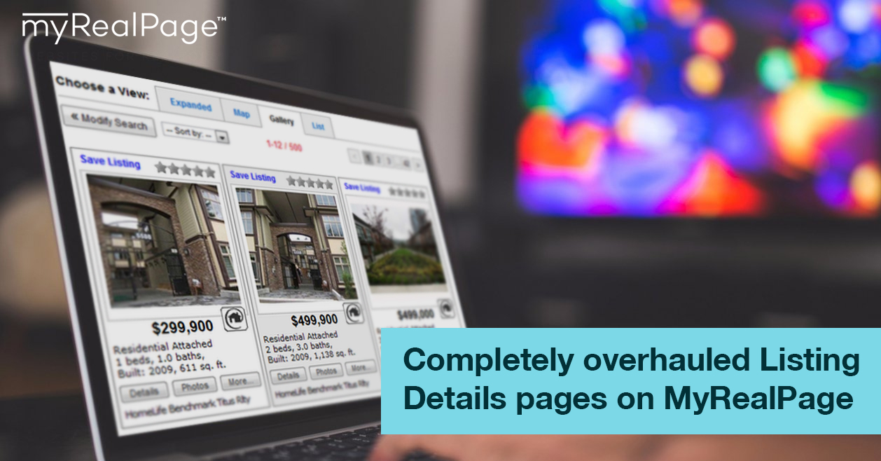 Completely overhauled Listing Details pages on MyRealPage websites