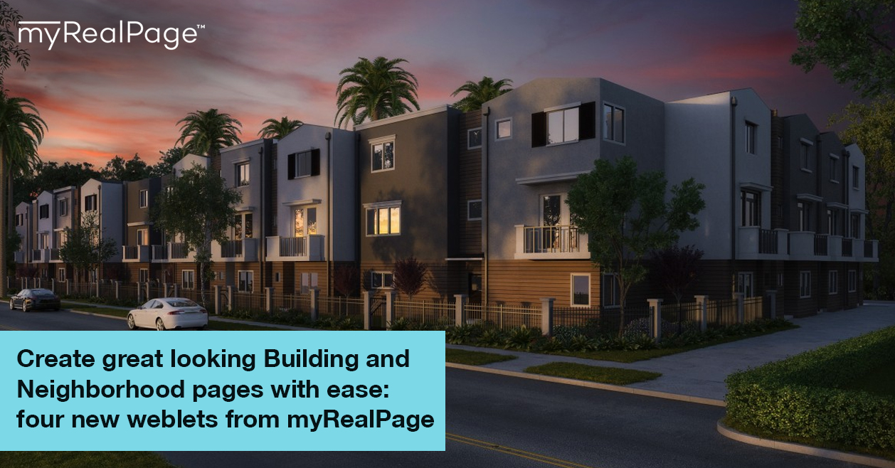 Create Great Looking Building And Neighborhood Pages With Ease: Four New Weblets From MyRealPage