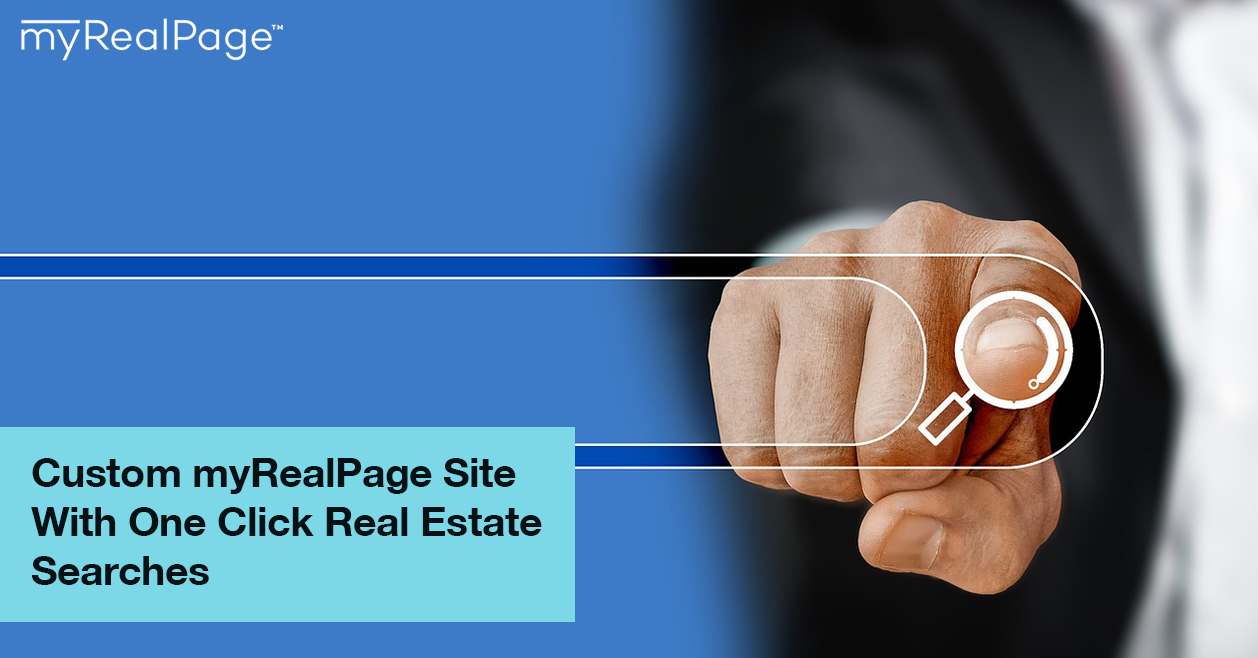 Custom myRealPage Site With One Click Real Estate Searches