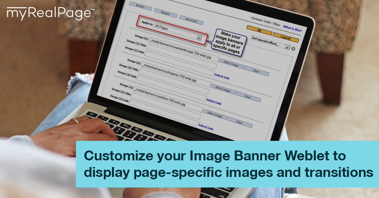 Customize Your Image Banner Weblet To Display Page-Specific Images And Transitions