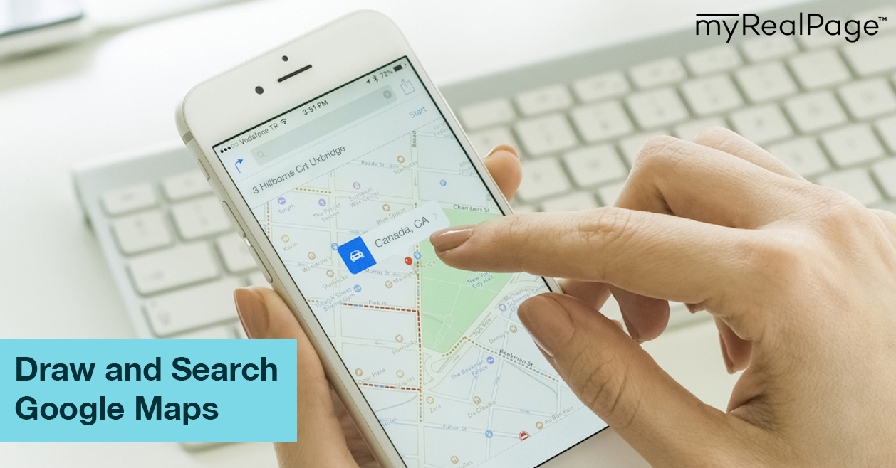 Draw and Search Google Maps