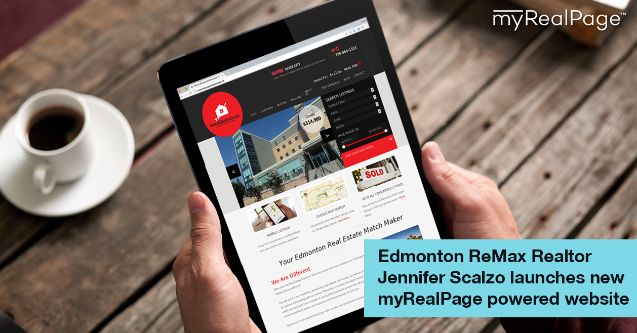 Edmonton ReMax Realtor Jennifer Scalzo launches new myRealPage powered website