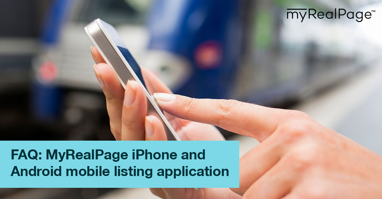 FAQ: MyRealPage iPhone and Android mobile listing application