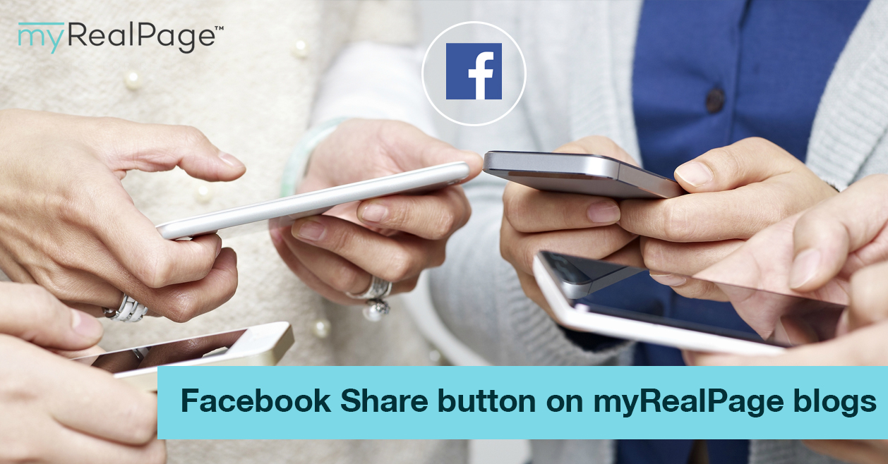 Facebook Share Button On MyRealPage Blogs