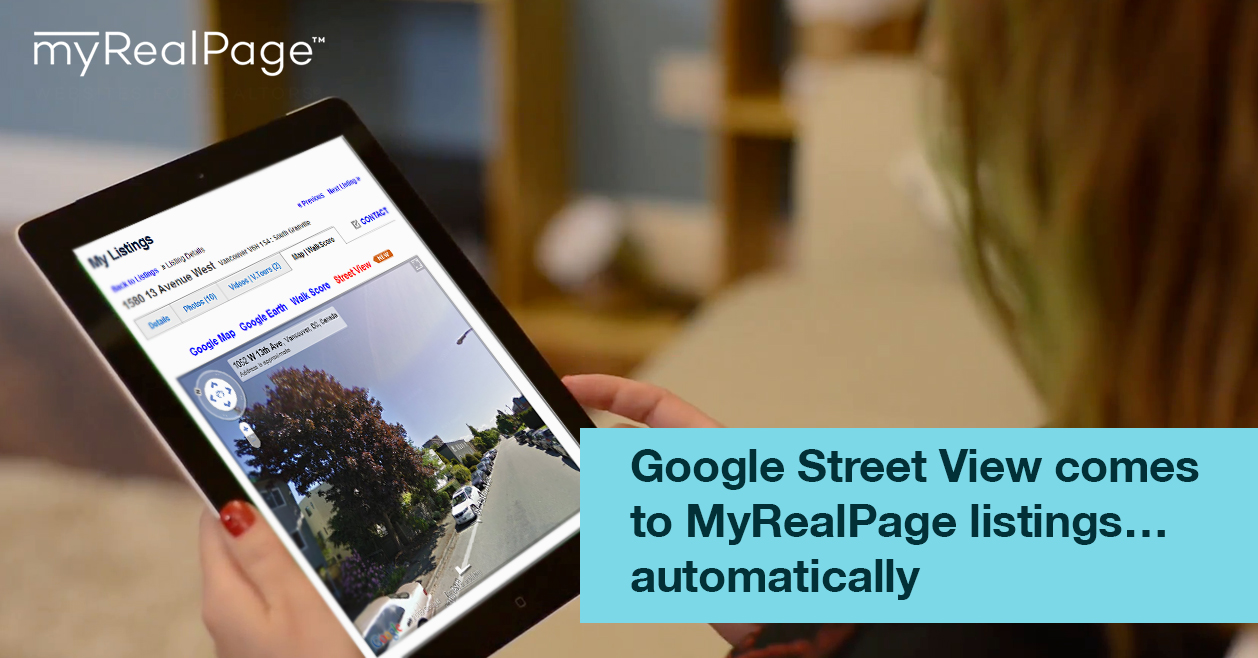 Google Street View Comes To MyRealPage Listings… Automatically