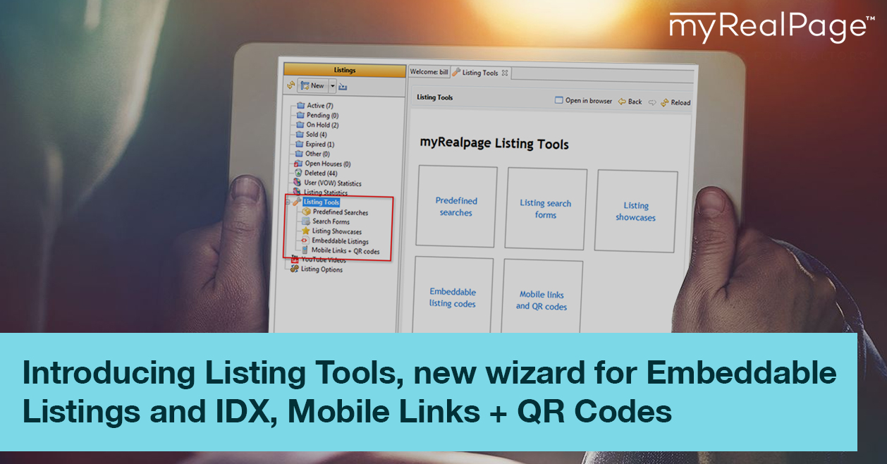 Introducing Listing Tools, New Wizard For Embeddable Listings And IDX, Mobile Links + QR Codes