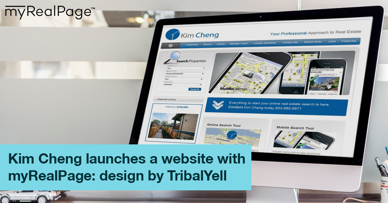 Kim Cheng launches a website with myRealPage: design by TribalYell