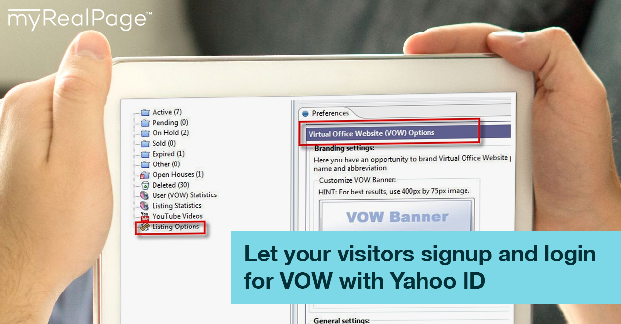 Let your visitors signup and login for VOW with Yahoo ID