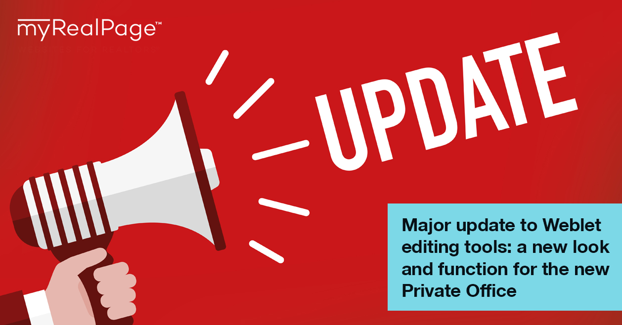 Major update to Weblet editing tools: a new look and function for the new Private Office