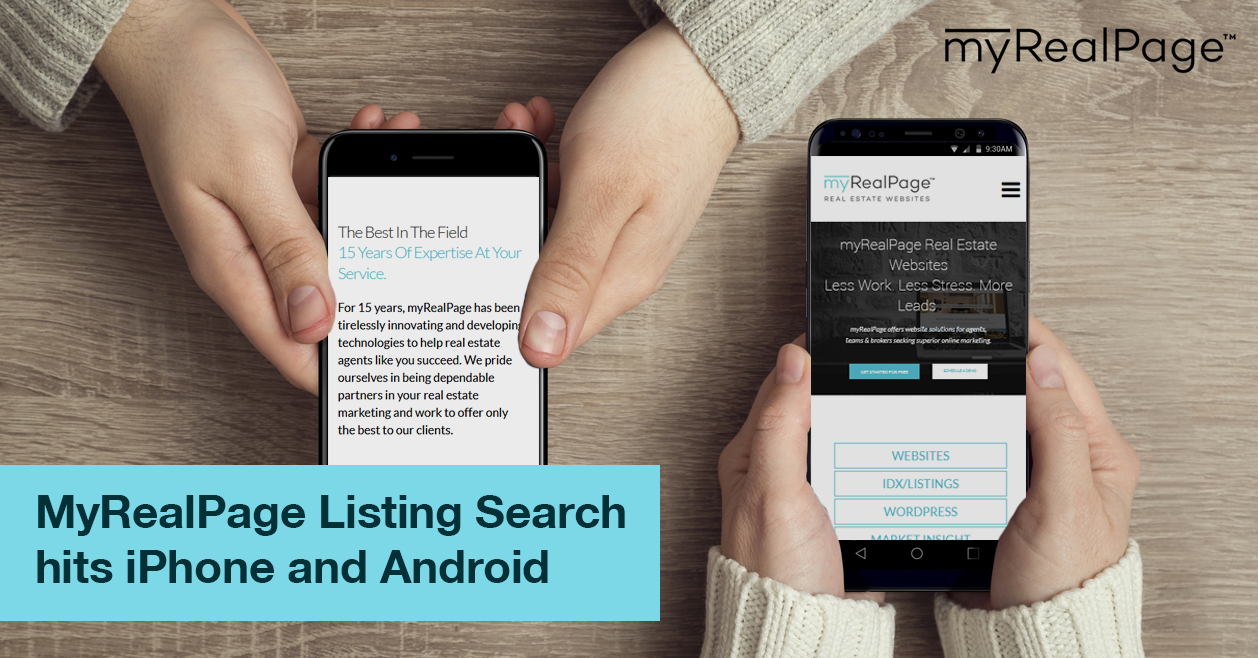MyRealPage Listing Search hits iPhone and Android