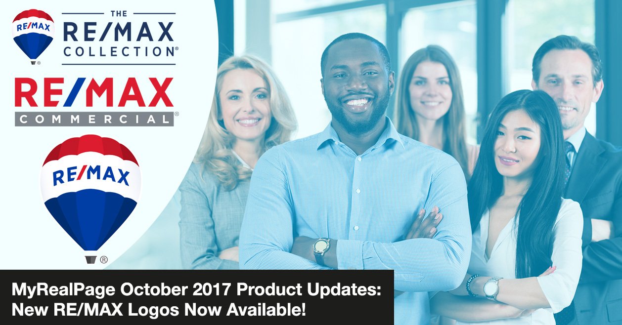MyRealPage October 2017 Product Updates: New RE/MAX Logos Now Available!