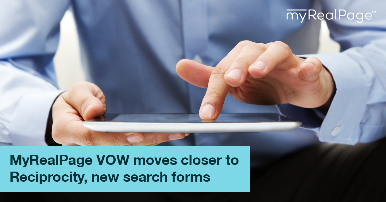 MyRealPage VOW Moves Closer To Reciprocity, New Search Forms