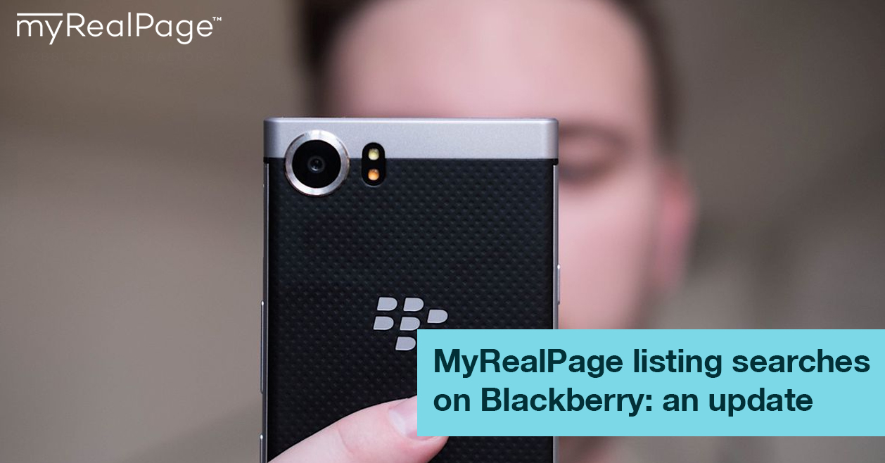 MyRealPage Listing Searches On Blackberry: An Update