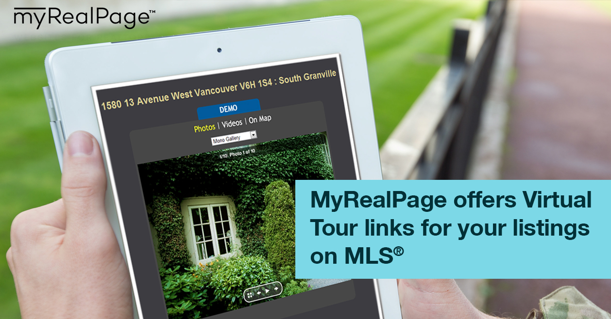 MyRealPage offers Virtual Tour links for your listings on MLS®