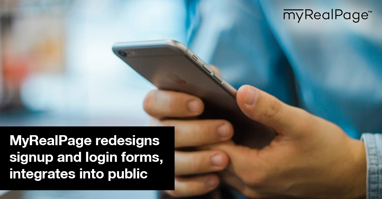 MyRealPage Redesigns Signup And Login Forms, Integrates Into Public Searches