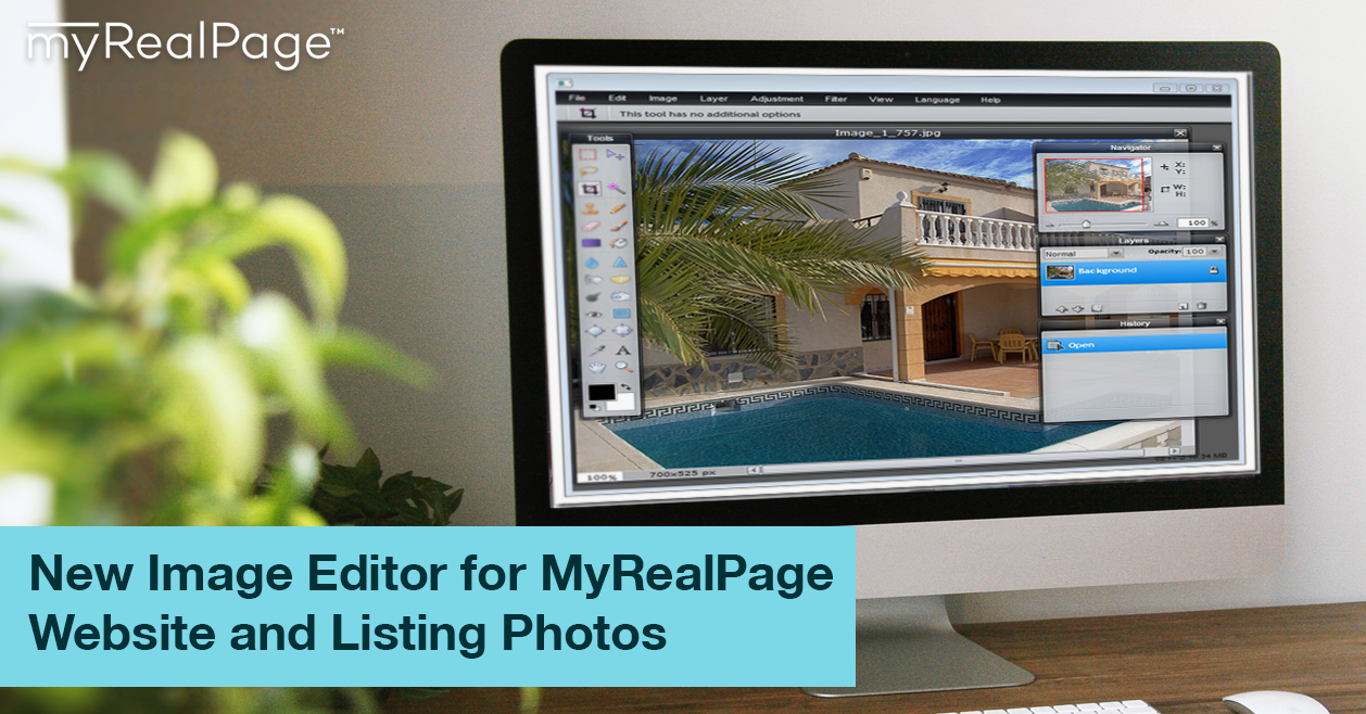 New Image Editor for MyRealPage Website and Listing Photos: fully integrated right inside your Private Office