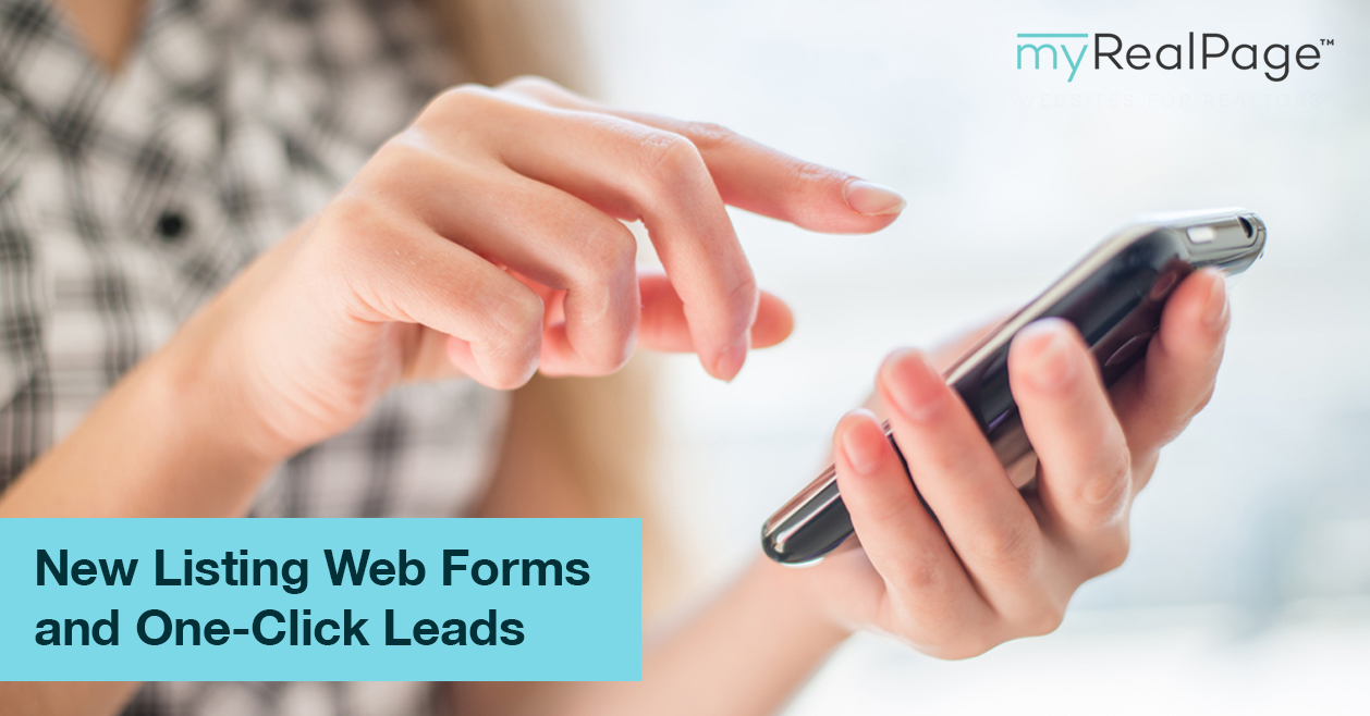 New Listing Web Forms and One-Click Leads