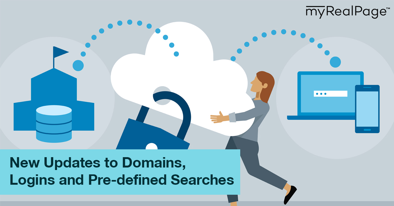 New Updates to Domains, Logins and Pre-defined Searches