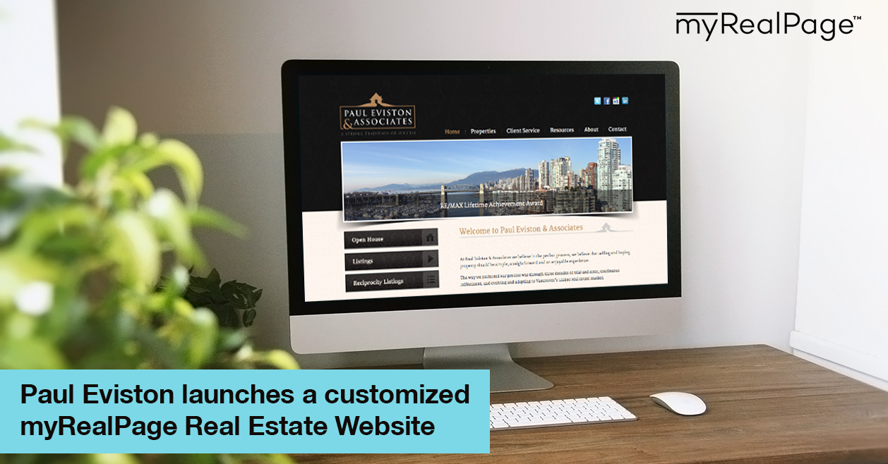 Paul Eviston Launches A Customized MyRealPage Real Estate Website
