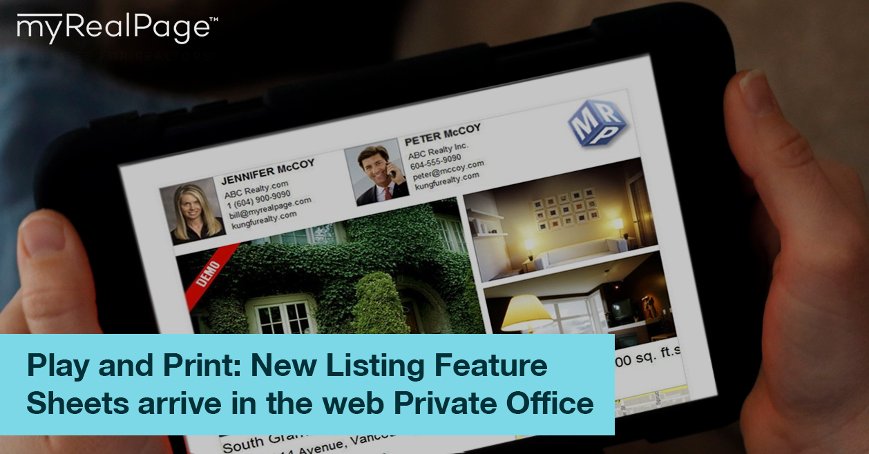 Play And Print: New Listing Feature Sheets Arrive In The Web Private Office