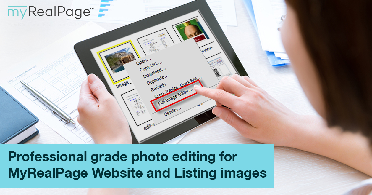 Professional grade photo editing for MyRealPage Website and Listing images: all from your Private Office