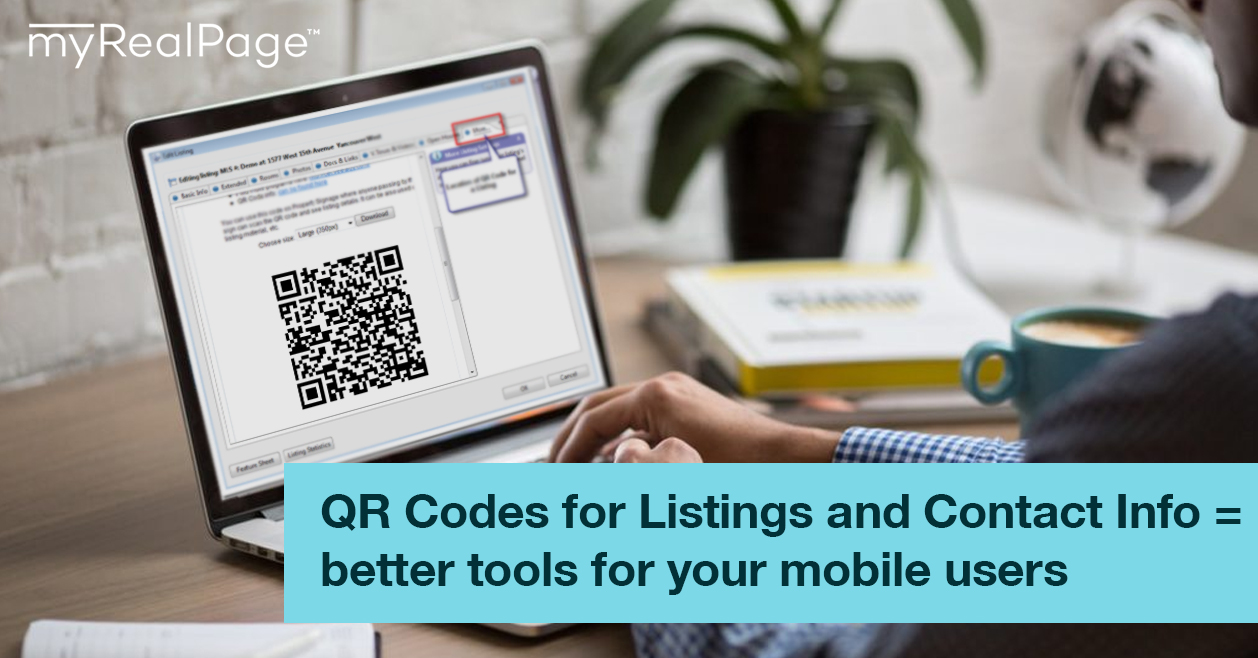 QR Codes for Listings and Contact Info = better tools for your mobile users