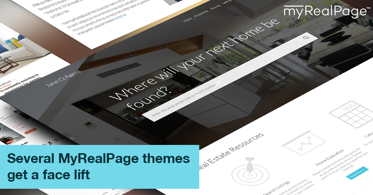 Several MyRealPage themes get a face lift