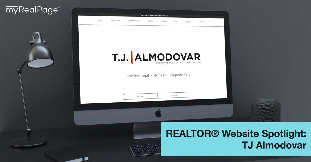 REALTOR® Website Spotlight – TJ Almodovar