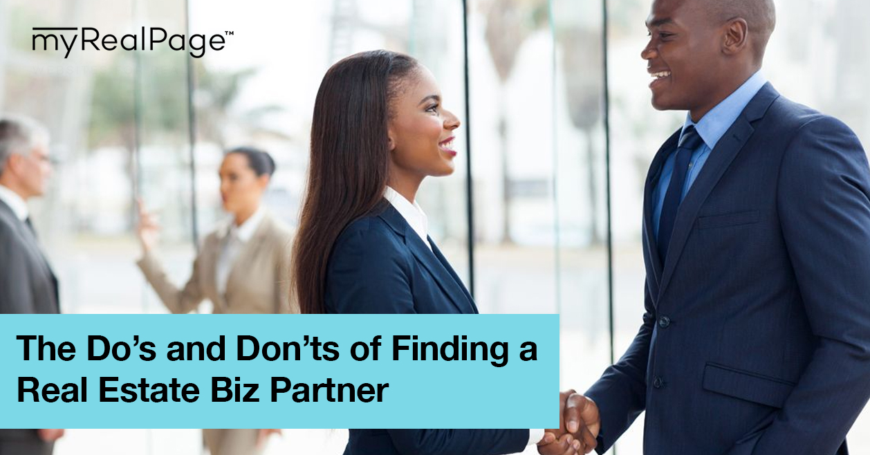 The Do's and Don'ts of Finding a Real Estate Biz Partner