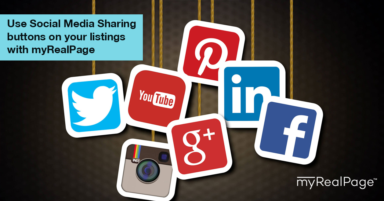 Use Social Media Sharing Buttons On Your Listings With MyRealPage