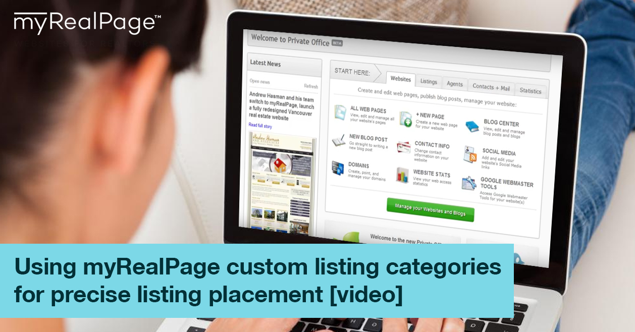 Using myRealPage custom listing categories for precise listing placement [video]