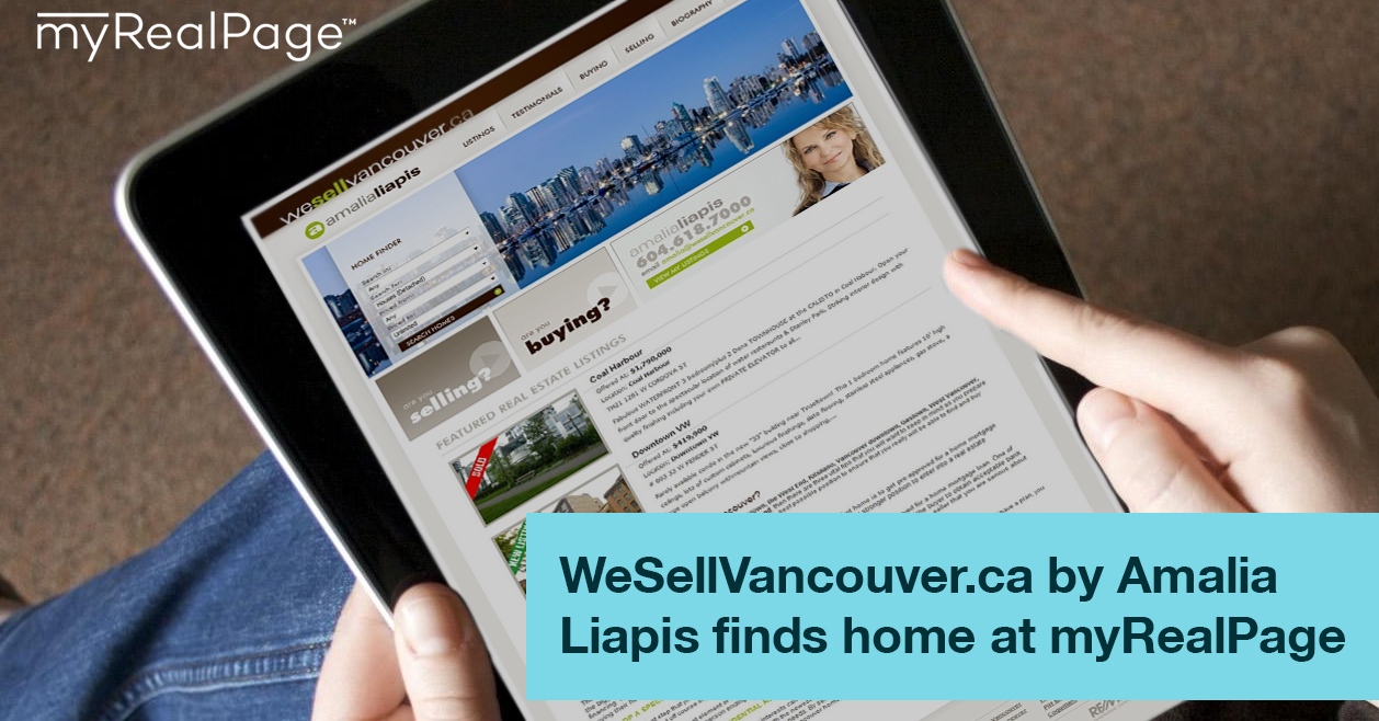 WeSellVancouver.ca by Amalia Liapis finds home at myRealPage